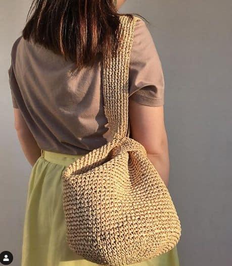 Bolsa de crochê saco