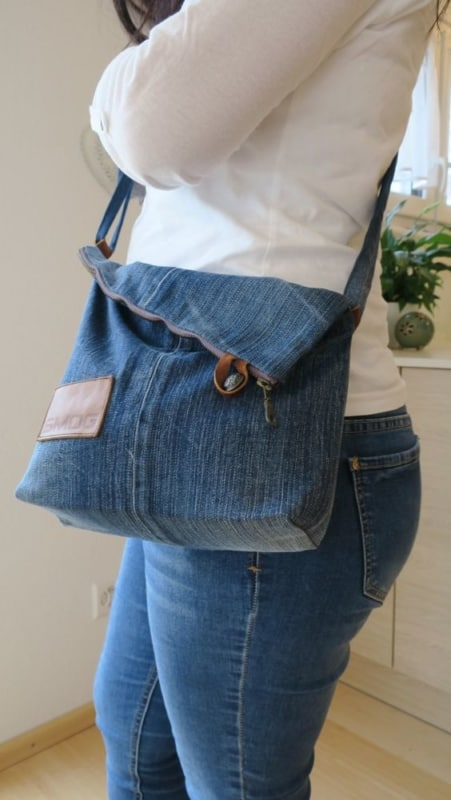 Bolsa jeans média