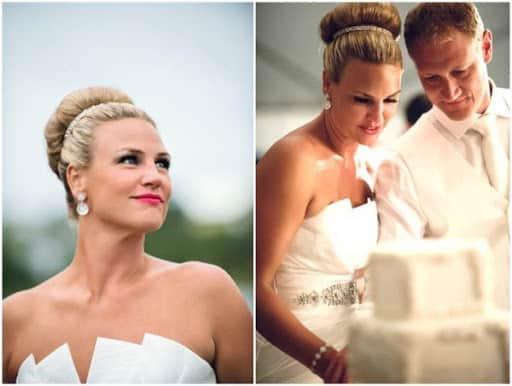 Coque alto para noiva tradicional