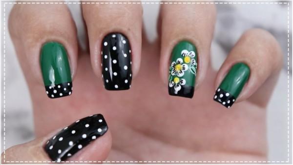 Unha verde e preta