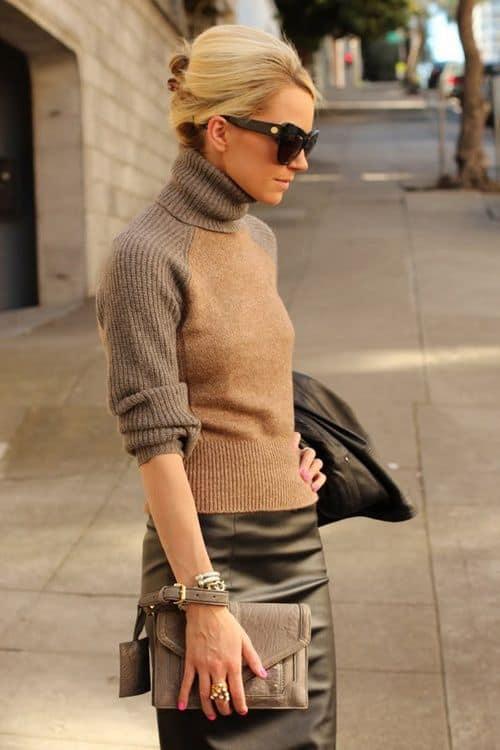 Ideia de como usar suéter para ir trabalhar