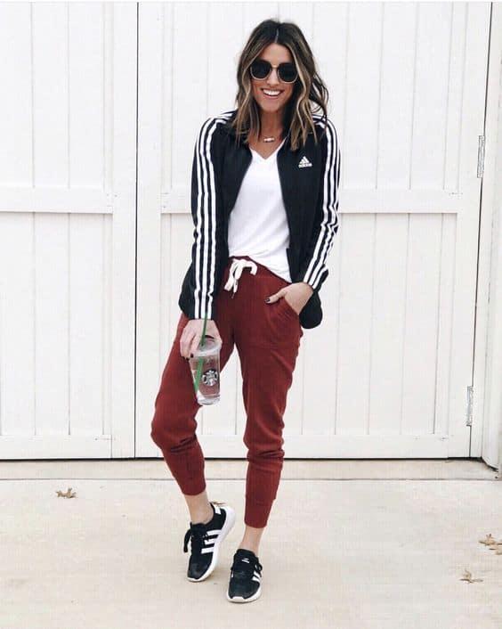 Linda jaqueta feminina preta estilo esportivo