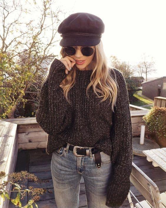 Look casual com suéter quentinho preyo