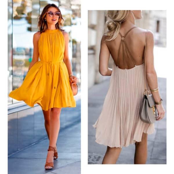 Look com vestido plissado 07