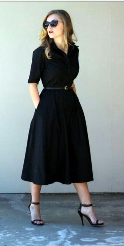 Look preto no estilo clássico