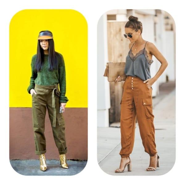 Looks com calça cargo verde e marrom