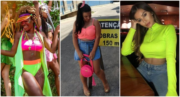 Looks com cropped neon 1