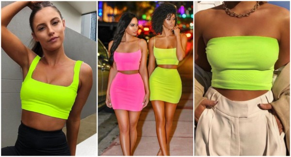 Looks com cropped neon 4