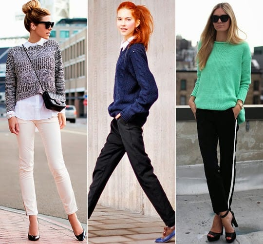 Looks com suéteres femininos