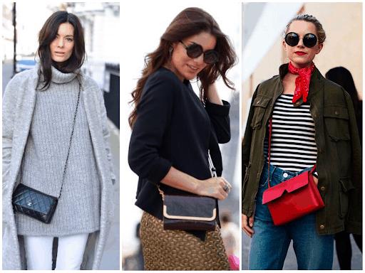 Looks de inverno com modelos de bolsas transversais