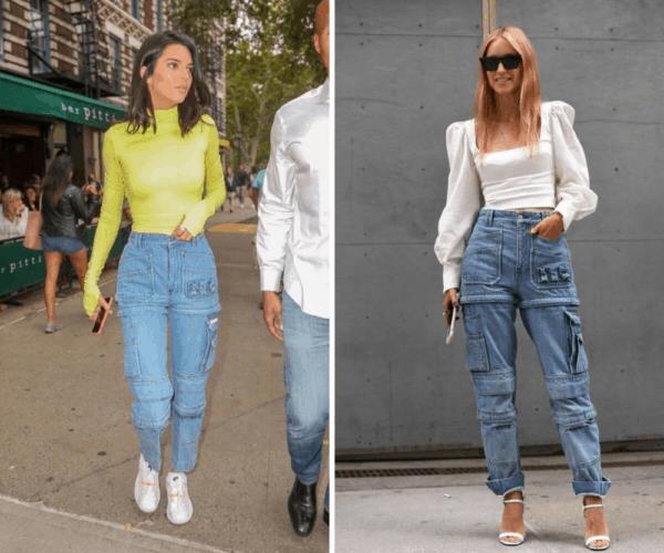 Modelos de calças cargo jeans