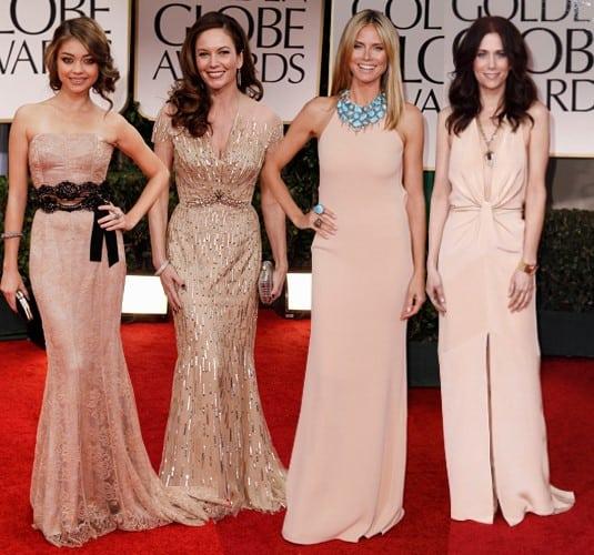 Modelos de vestidos longos de festa nude