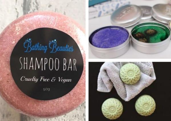 Montagem com com fotos de shampoo em barra 1