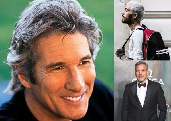 Montagem com fotos de três homens com cabelo cinza 1