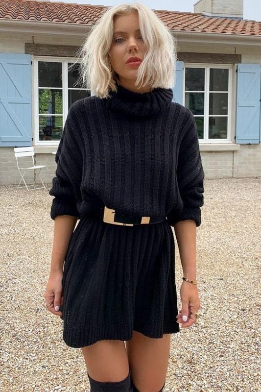 Nova forma de usar o maxi suéter