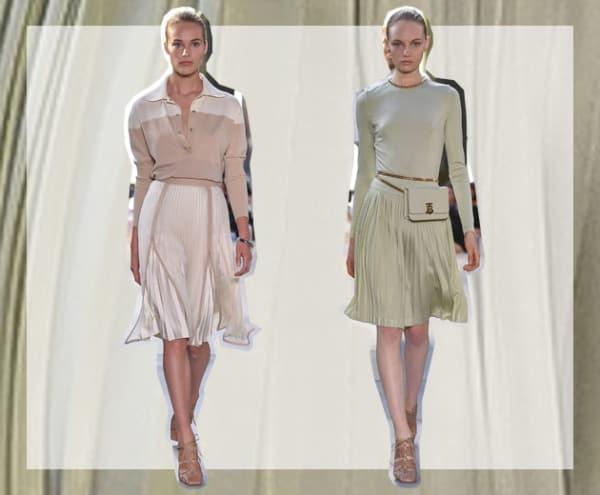 Plissado burberry roupas da moda 2020 05
