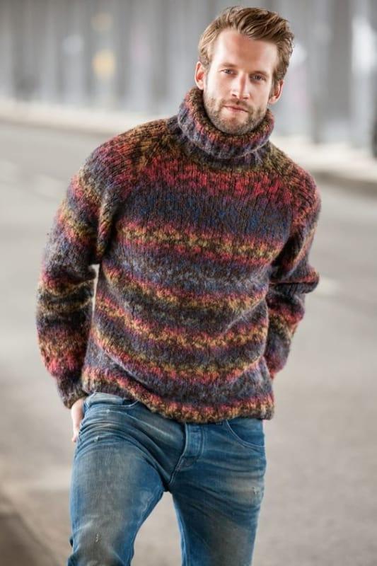 Pulover masculino colorido