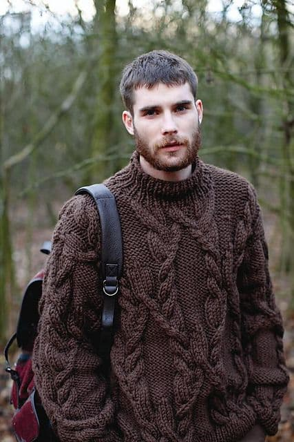 Pulover masculino grande simples