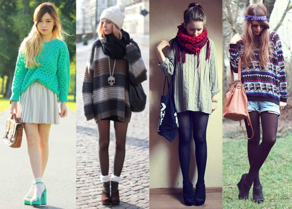 Quatro looks jovens com suéter