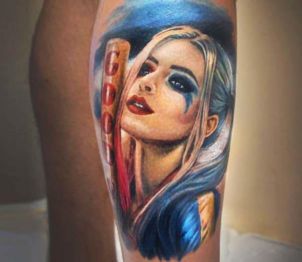 Tatuagem Arlequina colorida