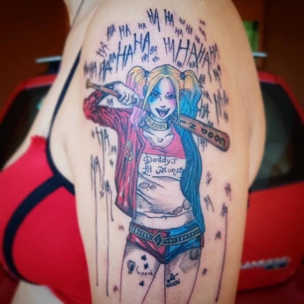 Tatuagem Arlequina como fazer