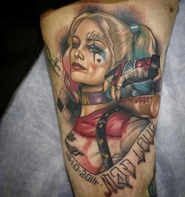Tatuagem Arlequina linda