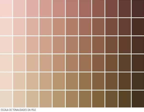 Tons de nude cor da pele