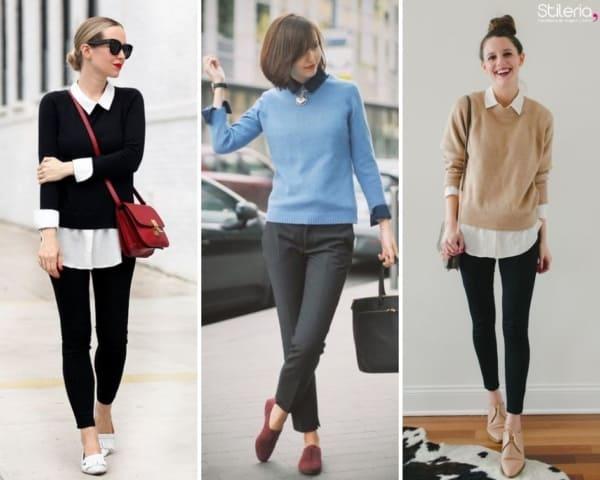 Três looks com suéter