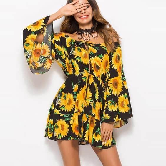 Vestido de girassol 2 4
