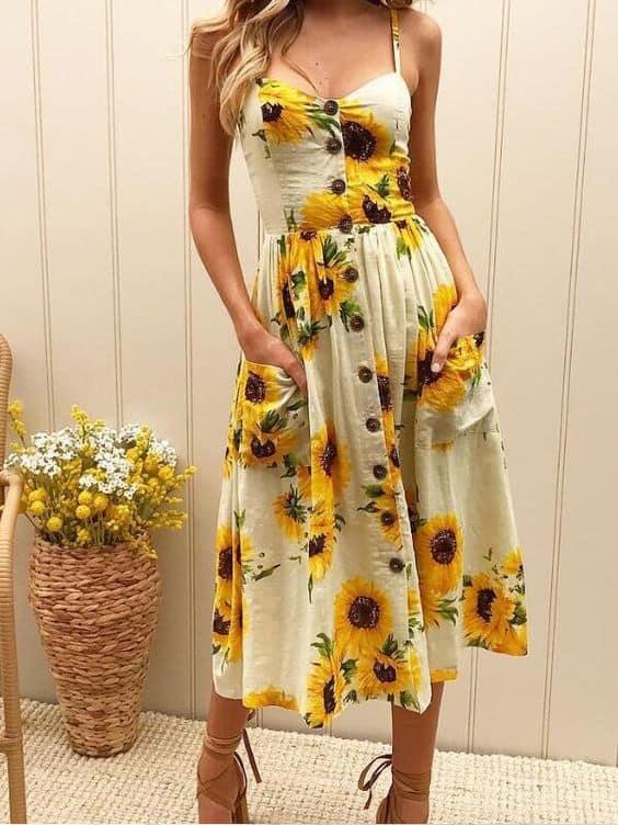 Vestido de girassol 4 3