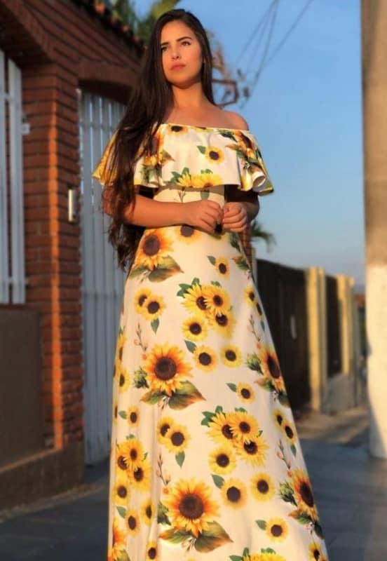 Vestido de girassol 6 1