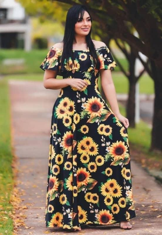 Vestido de girassol 6 4