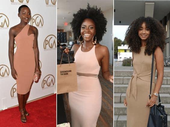 Vestidos nude para valorizar a pele negra