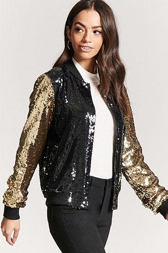 Você pode apostar numa jaqueta preta e brilhosa também