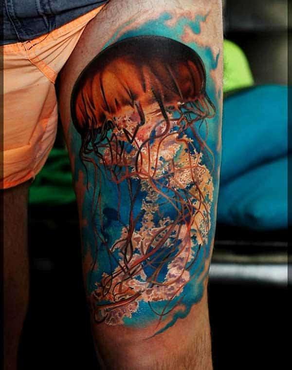 como fazer tatuagem fundo do mar realista