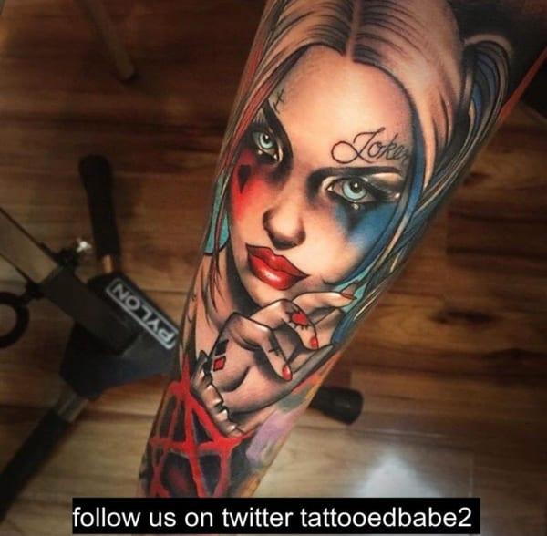 como fazer uma Tatuagem Arlequina