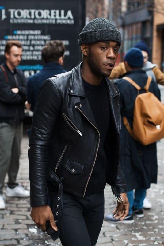 estilo de jaqueta Biker