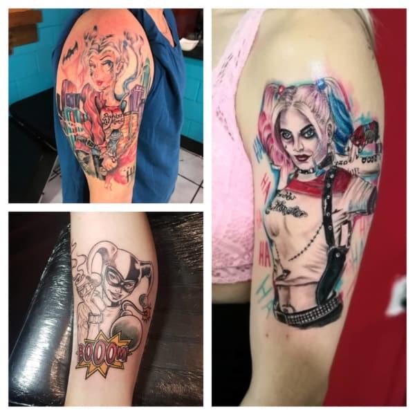 ideias de tatuagem Arlequina