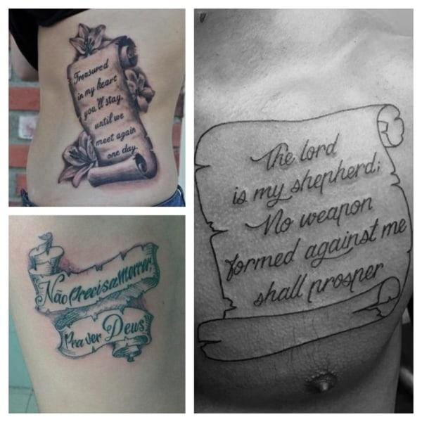 Tatuagem Pergaminho ➞ +45 Ideias de tattoos INCRÍVEIS!