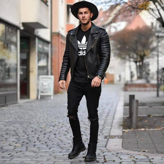 jaqueta Biker all black