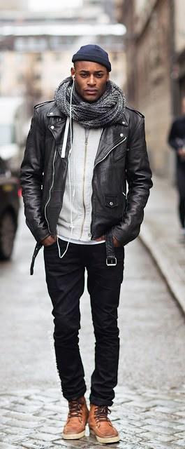 jaqueta Biker inverno
