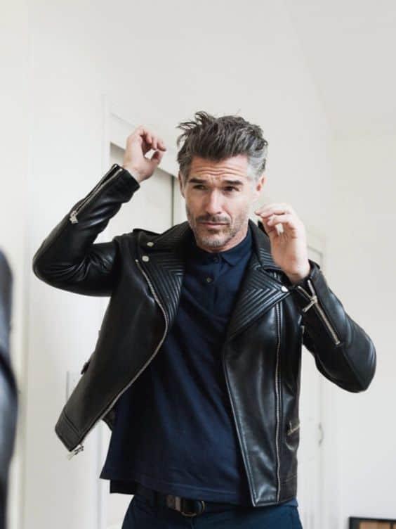 jaqueta Biker masculina preta como usar