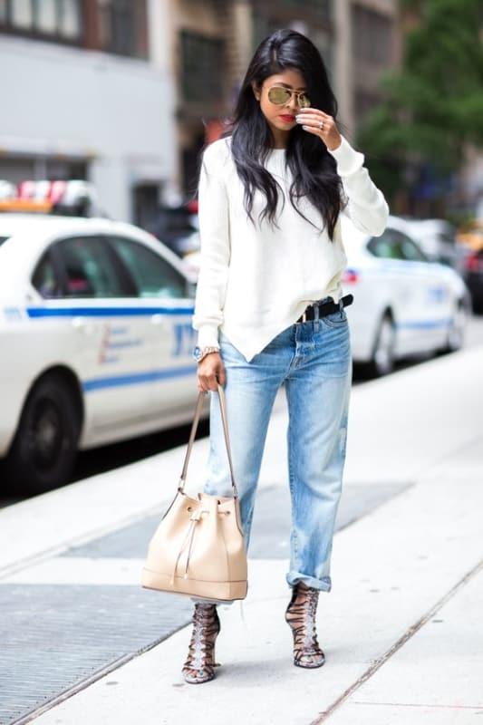 looks de trabalho podem ser usados com modelos de bolsas saco