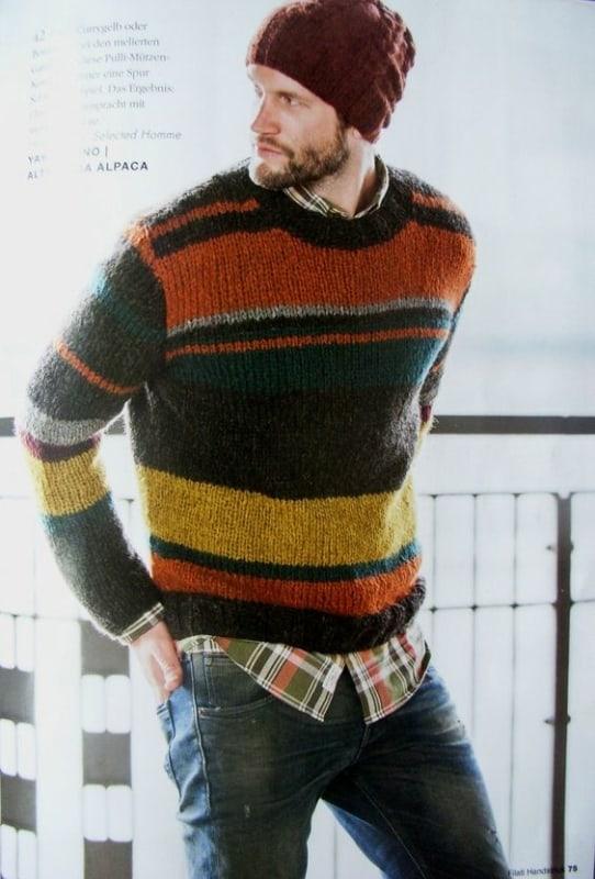 modelo de pulover colorido