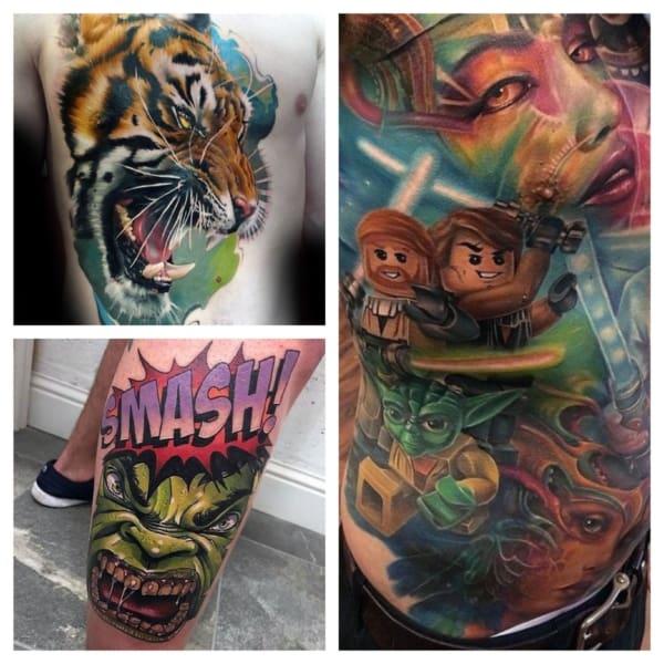 modelos de tatuagem colorida