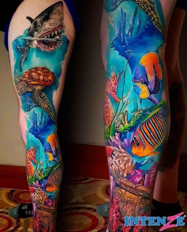 modelos de tatuagem fundo do mar