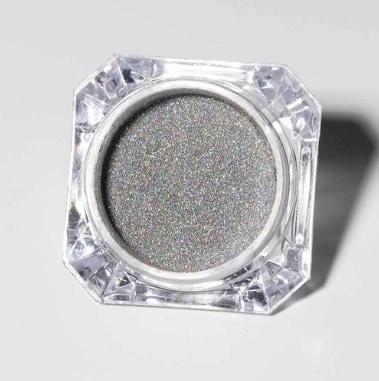 pó holográfico prata