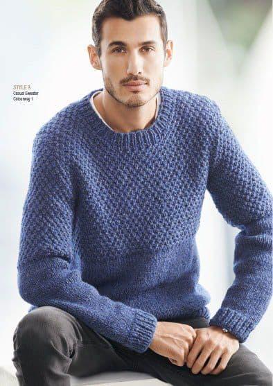 pulover azul claro