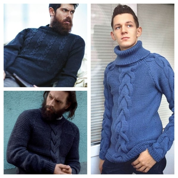 pulover azul
