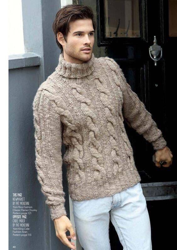 pulover bege com gola